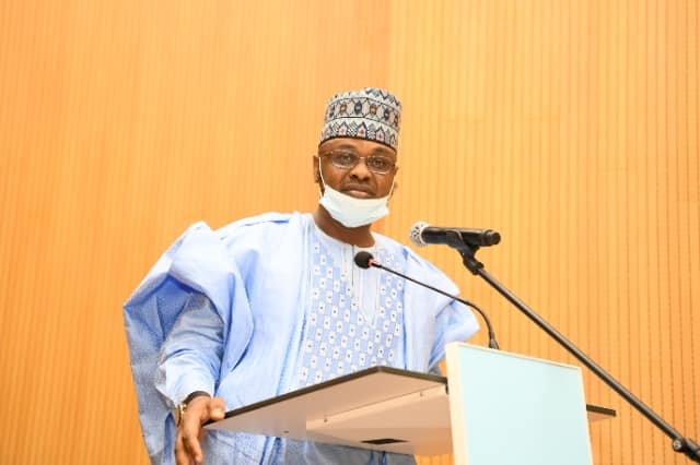 Pantami while delivering his inauguration speech.